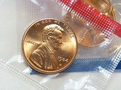 1984 D Lincoln Memorial Cent / Penny in MINT CELLO uncirculated BU RED