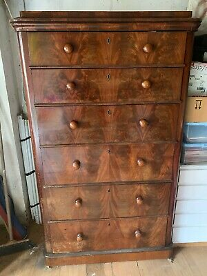 Antique Chest of Drawers (collection only) Tallboy - Mahogany - Large
