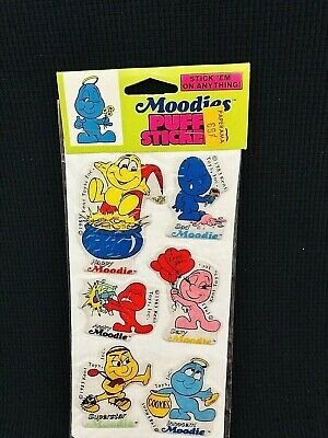 COMPLETE Set of 10 Stickers !! Vintage 1982  Original Prism  MOODIES Rare !