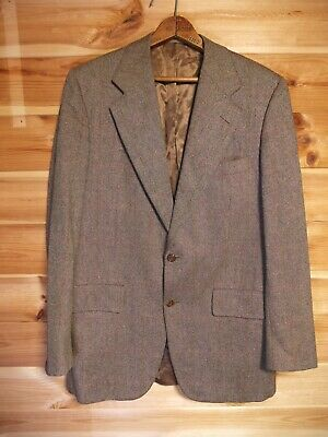 Vintage Chester Barrie For Austin Reed Tweed Blazer Jacket 40l Brown 29 99 Picclick Uk