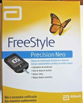 Freestyle Precision Neo Blood Glucose Monitor Meter  + 10 Test Strips 10 Lancets
