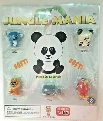 SquishLand  Jungle Mania Display Blister Pack with 5  Squishies