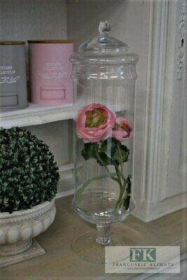 Glass Footed Handmade Serving Bonbon Jar Candy Food chocolate Container 50 cm H