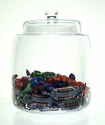 clear Glass Large Bonbon Jar Candy Biscuit pasta Cookie 30cm  container sweet