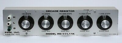 PPM R5-111.11K 5-Dial Resistor 111,110 ohms 1 ohm/st 0.01% accuracy like 1433-M