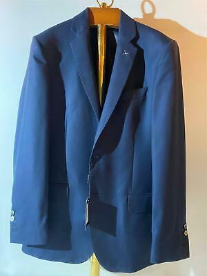 New Hawes /& Curtis Mens Navy Tonal Check 150 Smart Suit Jacket JKCWPA80 RRP £259