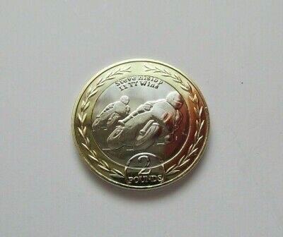2019 Isle of Man Steve Hislop 11 TT Wins  £2 Two Pound Coin BUNC