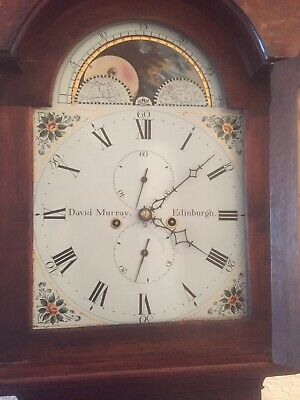 antique longcase grandfather clocks pre-1900 Edinburgh Maker