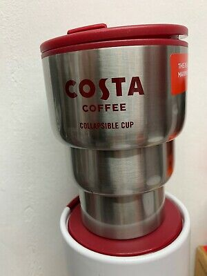 NEW Costa Coffee Stainless SteelPlastic collapsible Travel Mug Cup | eBay
