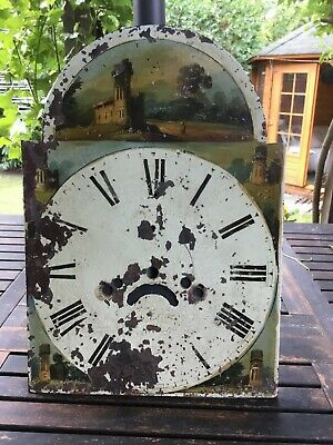 Antique Grandfather Clock Face.