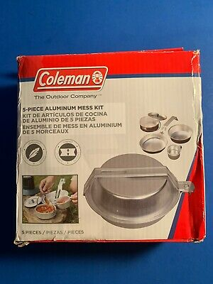 Coleman 2000016402 1 Person Aluminum Mess Kit Pan Cup Pot and Plate for sale online