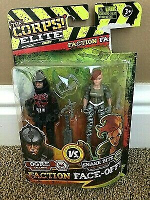 Lanard Toys CORPS ELITE Curse Faction Face Off 8 Action Figures Weapons Gift NEW