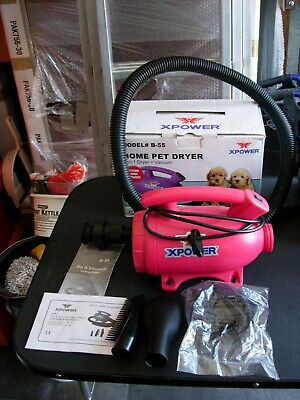 Dog Groomers XPower (Model#B-55) Home Pet Dryer. 2-in-1 Dryer + Vacuum
