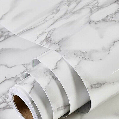 3D Marble Self-adhesive Contact Paper Vinyl Wallpaper Peel And Stick 23x196/""