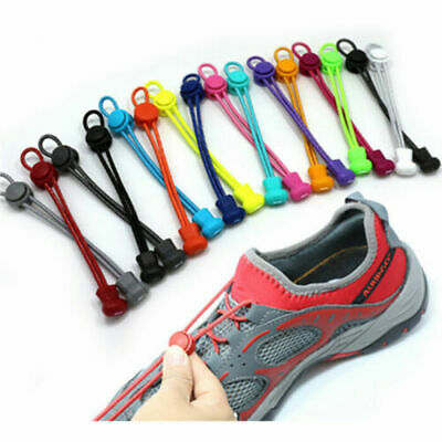Adult No Tie Shoelaces Quick Lazy Laces Sneakers Shoelace Elastic Shoe Laces UK