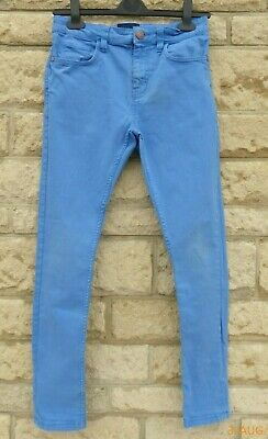 Boy's Next Light Blue Stretch Skinny Jeans Age 12 Years GC