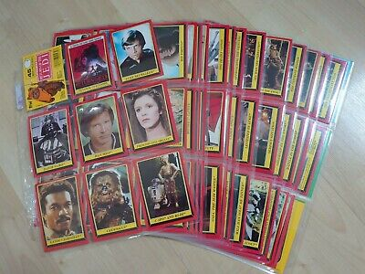 Vintage 1983 Topps Return of the Jedi Trading Cards (Red Border) - 123 of 132