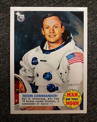 First Man on the Moon GLOSSY /10 Neil Armstrong 2013 TOPPS 75th Anniversary !