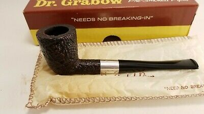 Lot of 2 pipes - Dr Grabow Pipe Commodore 31 - Medico VFQ with Tobacco Pouch