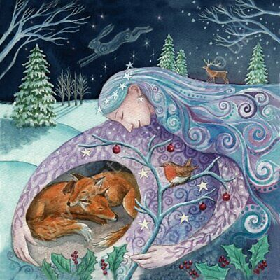 PAGAN WICCAN GREETING CARD Autumn Snuggles BIRTHDAY GINGER CATS WENDY ANDREW
