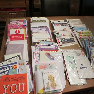 211 x Greetings Cards with Envelopes - See Description for Breakdown