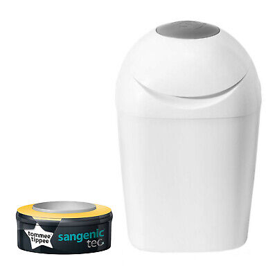 Tommee Tippee Sangenic Tec Sceau à Couches Twister Blanc Inclus Une Treuil