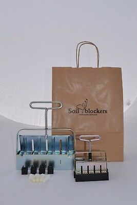 Soil Blocker Gift Set Zinc Plate