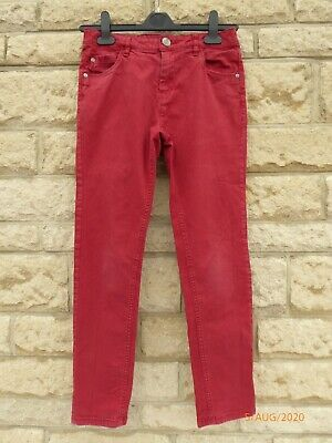 Boy's Next Red Stretch Skinny Jeans Age 12 Years VGC
