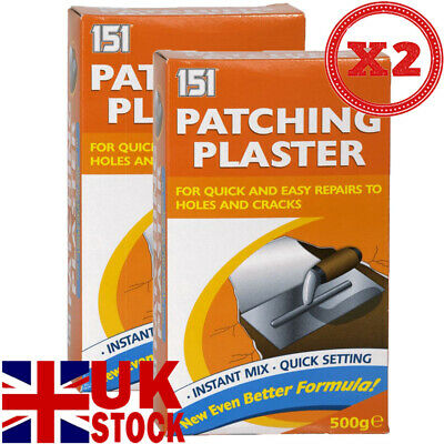 PATCHING PLASTER POWDER FOR QUICK AND EASY REPAIRS TO HOLES /& CRACKS FILLER 0040
