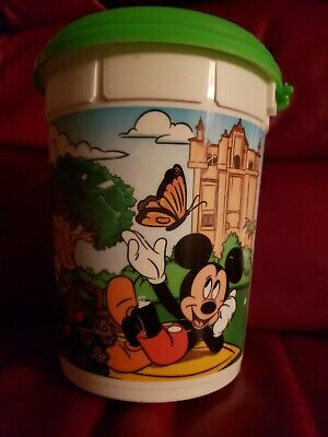 2019 Walt Disney World Refillable Popcorn Bucket W/ Lid Mickey Donald Goofy Park
