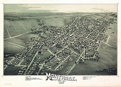 1797 PA MAP Montrose Moscow Mount Mt Union Holly Springs Jewett History SURNAMES
