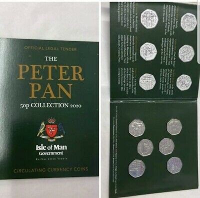 The 2020 Peter Pan 50p Coin Set Isle Of Man Government Coin Set.