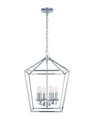 Weyburn 6 Light Bronze Caged Chandelier
