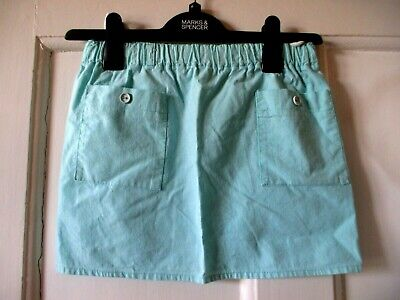 Vintage girls Skirt Age 3-4 Pale turquoise  A Line Pockets