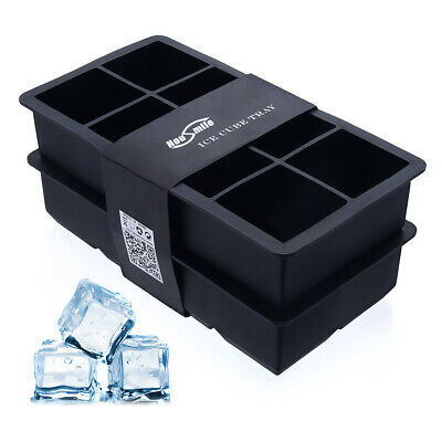 Silicone Square 15-Cavity Large Ice Cube Tray Maker Mold Mould Tray Jelly Tool L