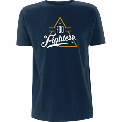 Blue Foo Fighters Triangle Official Tee T-Shirt Mens Unisex