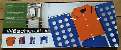 Waschefalter Shirt Folder in Box with Instructions, Strong Blue Plastic