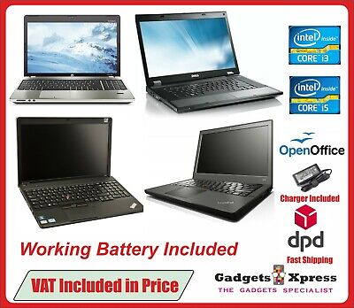 CHEAP FAST DUAL CORE i3 i5 LAPTOP WIN-10 4GB 8GB RAM HDD SSD WARRANTY OFFICE