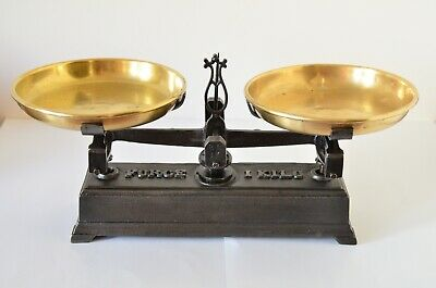 Old Vintage Restored Small French Kitchen Scale FORCE