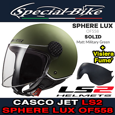CASCO JET LS2 OF558 SPHERE LUX BLOOM PINK GRAFICA LADY L 58 Cm VISIERA FUME