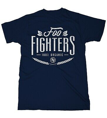 Foo Fighters 100% Organic Dave Grohl Rock Official Tee T-Shirt Mens Unisex