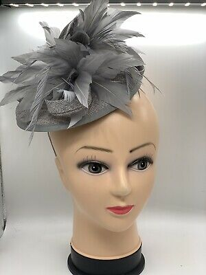 Silver Grey Fascinator Hat