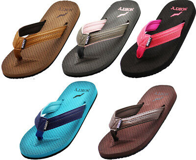 Norty Women's Soft Cushioned Footbed Flip Flop Thong Sandal - 5 Colors Available