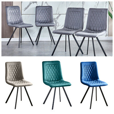 Smoke Grey Velvet 4X available £79.99 Each Roll Top Button Back Dining Chair