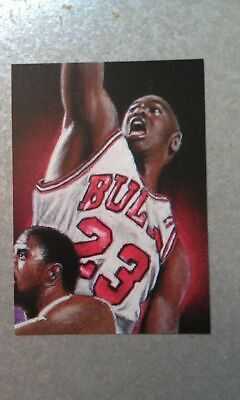 Michael Jordan Chicago Bulls Magic Johnson Cover Card RARE Oddball Dunking HOG