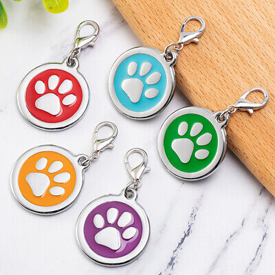 Paw Fish Dog Tag Cat Tag Key chain Puppy ID name Engraved Personalized