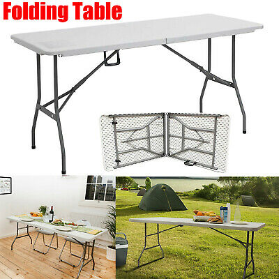 Heavy Duty Folding Trestle Table Catering Out/Indoor Camping Picnic BBQ Party