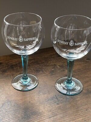 A Stunning Pair of  Tanqueray  /& Bombay Sapphire Gin Glasses
