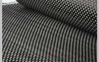 "Carbon Fiber Fabric , Plain Weave 50"" 3k 5.7oz - 10 Yards"