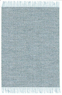"""Black Accent ~  9/"""" x 5 3//4/"""" Dollhouse Miniature Woven Accent Rug in Sage /& Tan"""